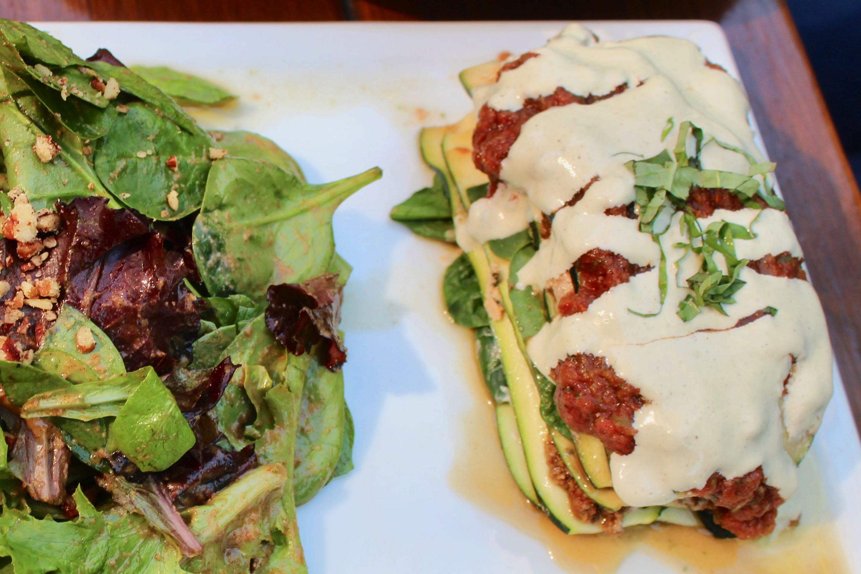 SunCafe Raw Rich Zucchini Vegan Lasagna