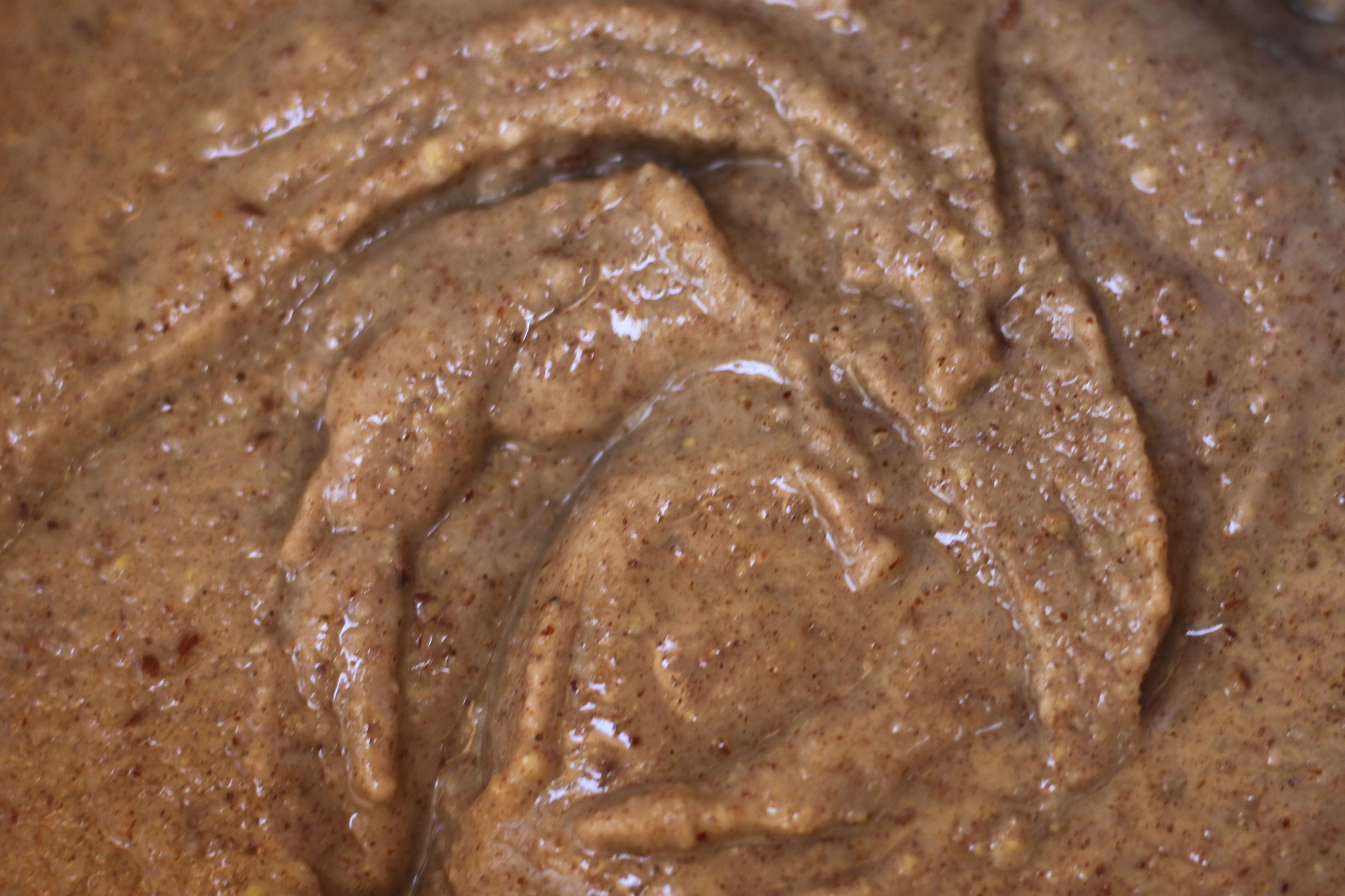 Close-up for brazil nut butter
