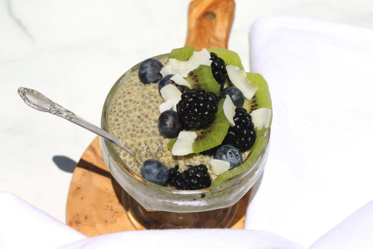 Vegan matcha chia pudding recipe