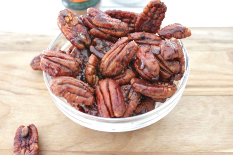 Candy spicy pecans